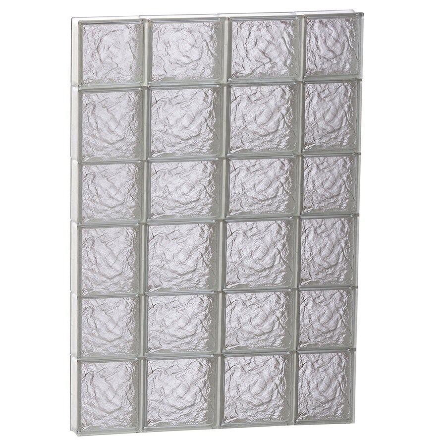 REDI2SET Ice Glass Pattern Frameless Replacement Block Window (Rough Opening: 28-in x 42-in; Actual: 27-in x 40.5-in)