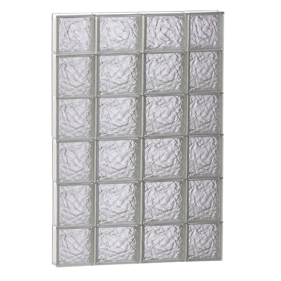 REDI2SET Ice Glass Pattern Frameless Replacement Block Window (Rough Opening: 28-in x 44-in; Actual: 27-in x 42.5-in)