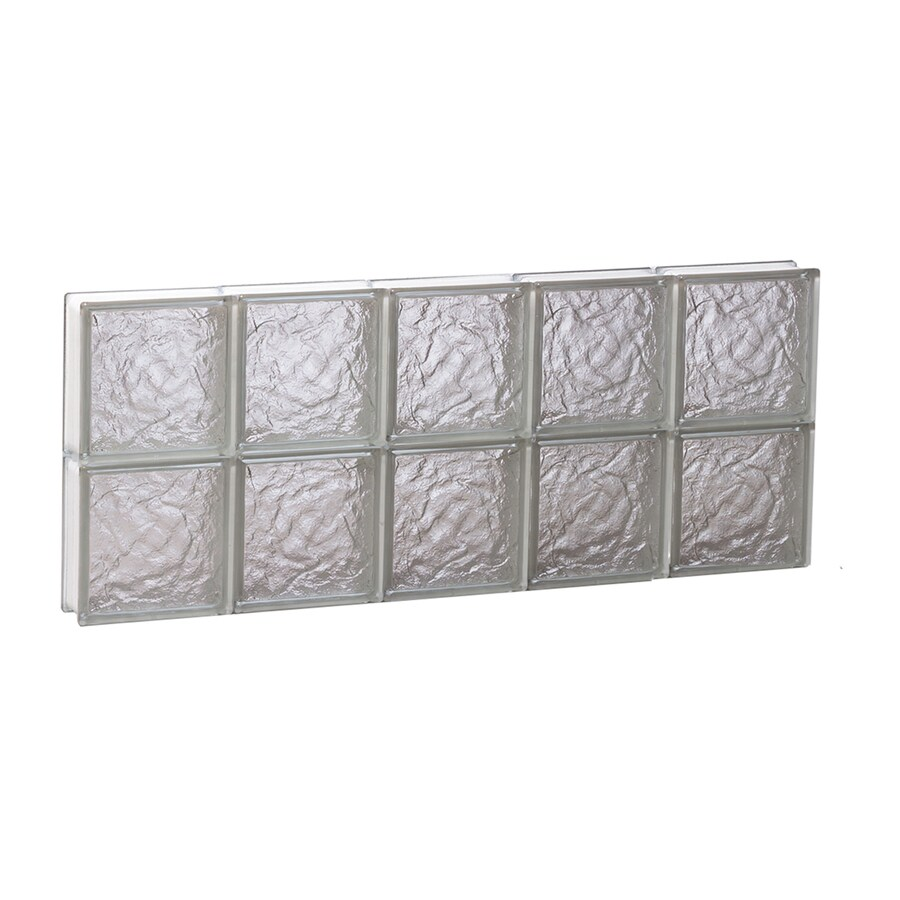 REDI2SET Ice Glass Pattern Frameless Replacement Block Window (Rough Opening: 30-in x 12-in; Actual: 28.75-in x 11.5-in)