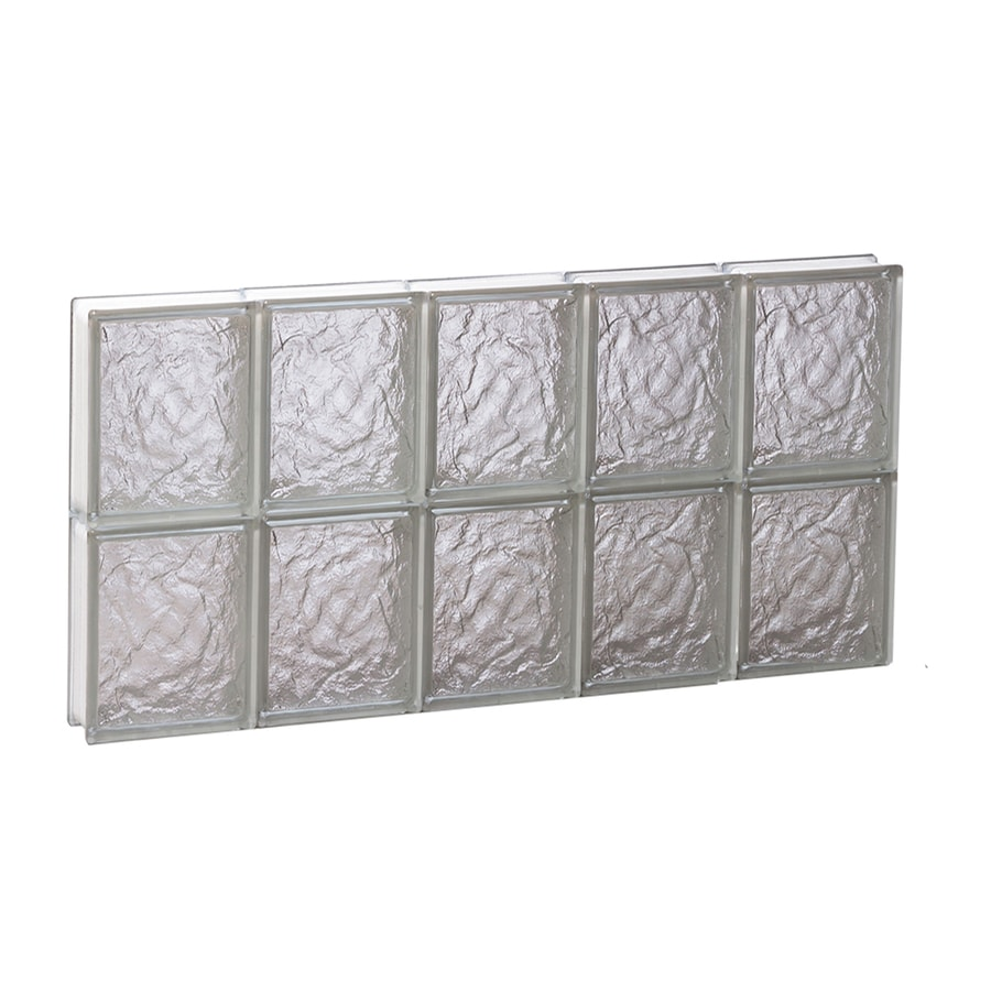 REDI2SET Ice Glass Pattern Frameless Replacement Glass Block Window (Rough Opening: 30-in x 16-in; Actual: 28.75-in x 15.5-in)
