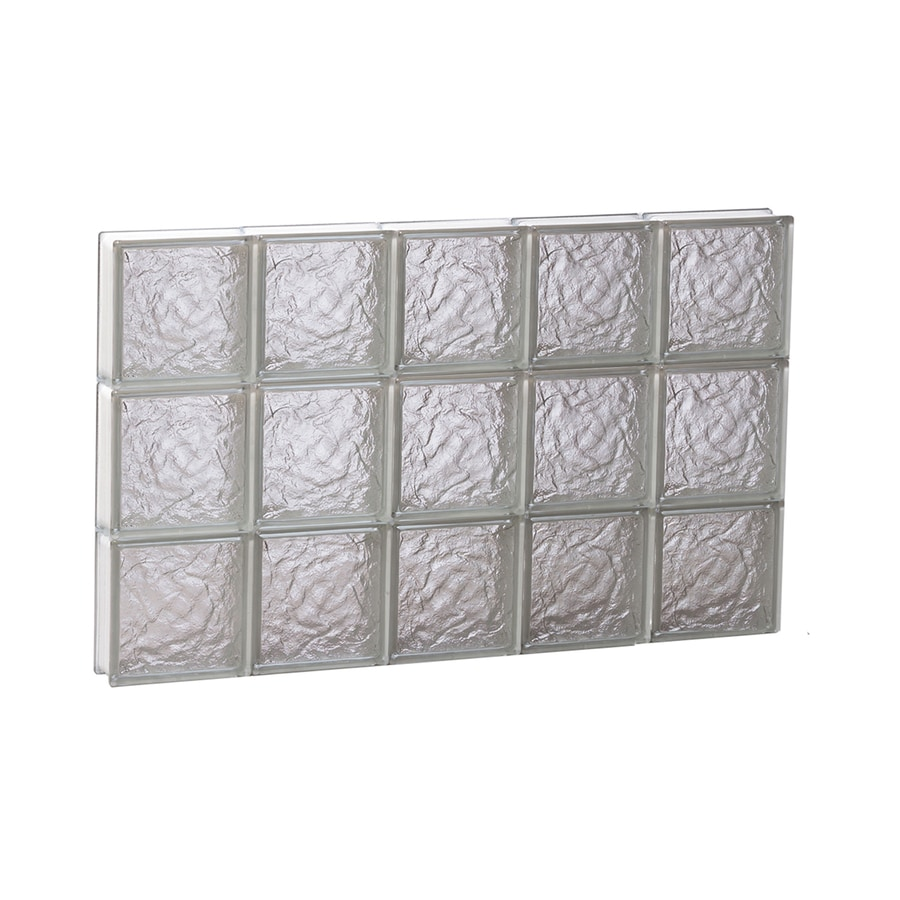 REDI2SET Ice Glass Pattern Frameless Replacement Block Window (Rough Opening: 30-in x 18-in; Actual: 28.75-in x 17.25-in)