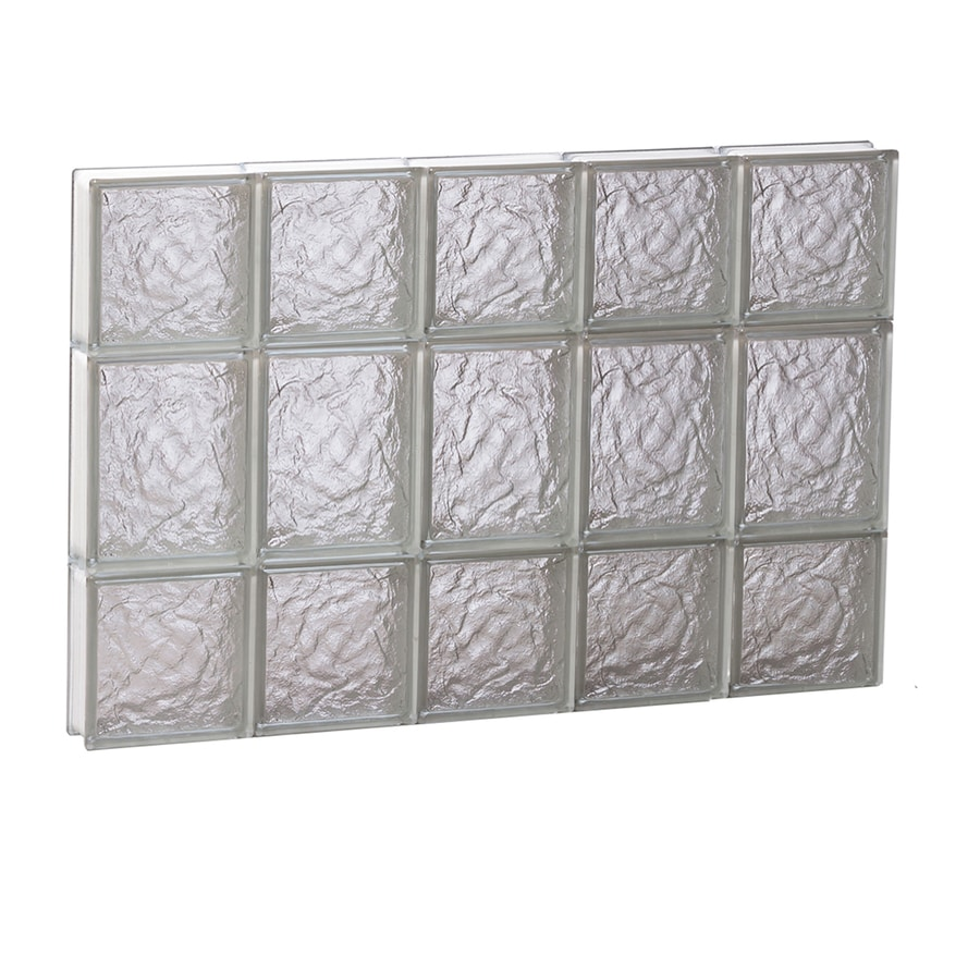 REDI2SET Ice Glass Pattern Frameless Replacement Glass Block Window (Rough Opening: 30-in x 20-in; Actual: 28.7500-in x 19.2500-in)
