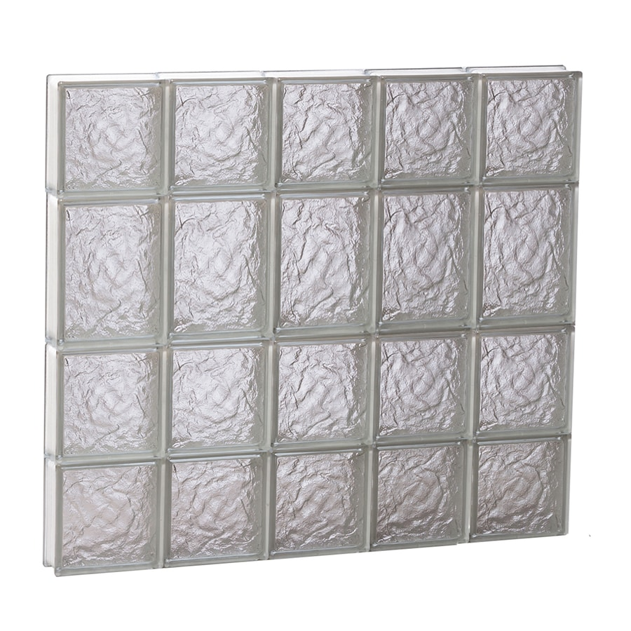 REDI2SET Ice Glass Pattern Frameless Replacement Glass Block Window (Rough Opening: 30-in x 26-in; Actual: 28.75-in x 25-in)