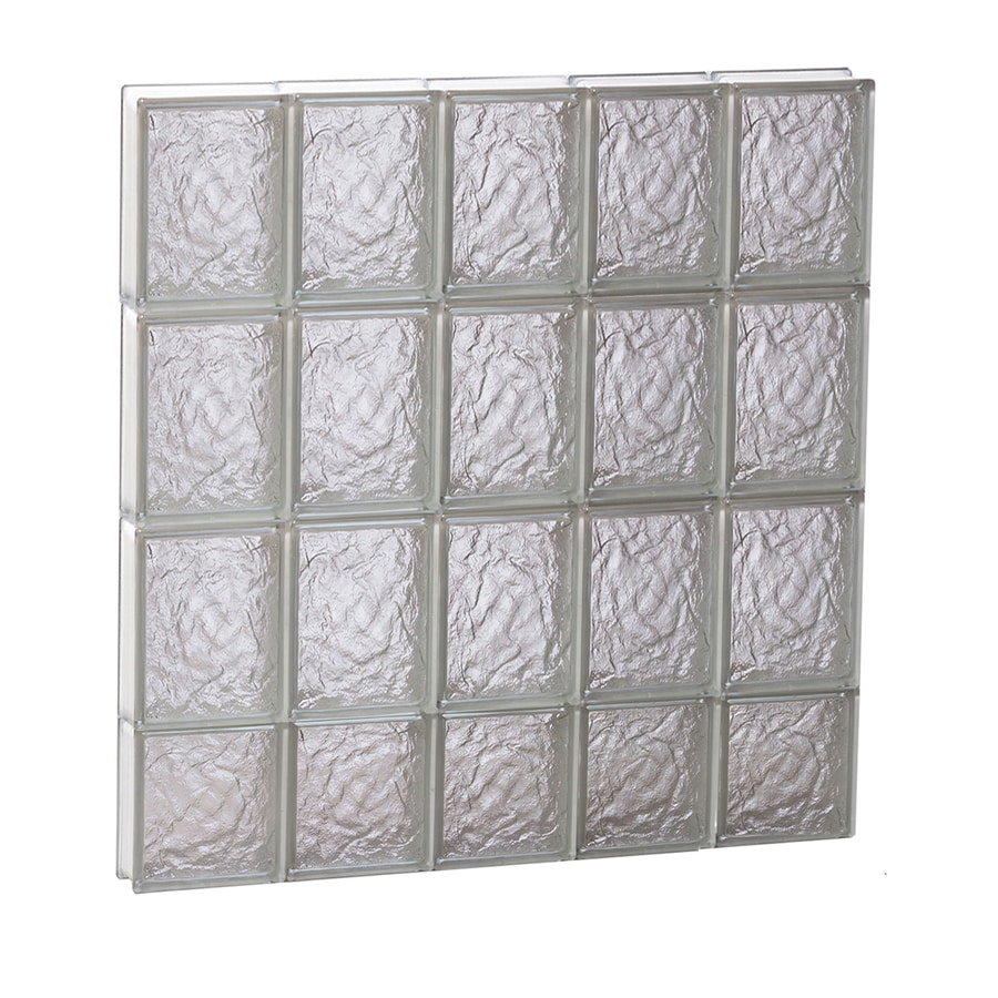 REDI2SET Ice Glass Pattern Frameless Replacement Glass Block Window (Rough Opening: 30-in x 30-in; Actual: 28.75-in x 29-in)