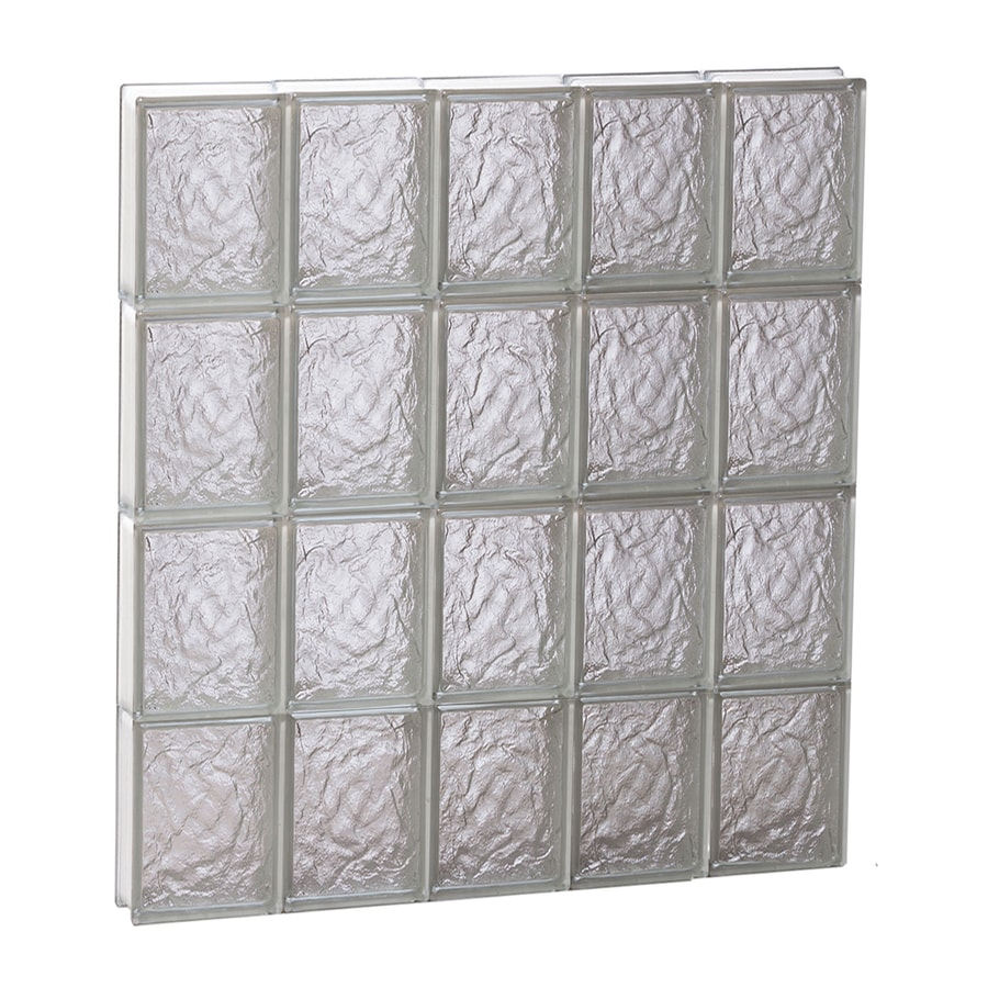 REDI2SET Ice Pattern Frameless Replacement Glass Block Window (Rough Opening: 30-in x 32-in; Actual: 28.75-in x 31-in)
