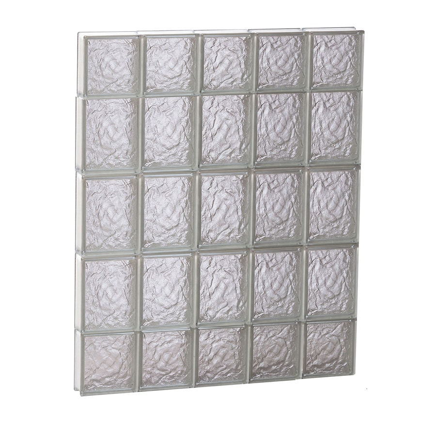 REDI2SET Ice Glass Pattern Frameless Replacement Block Window (Rough Opening: 30-in x 36-in; Actual: 28.75-in x 34.75-in)