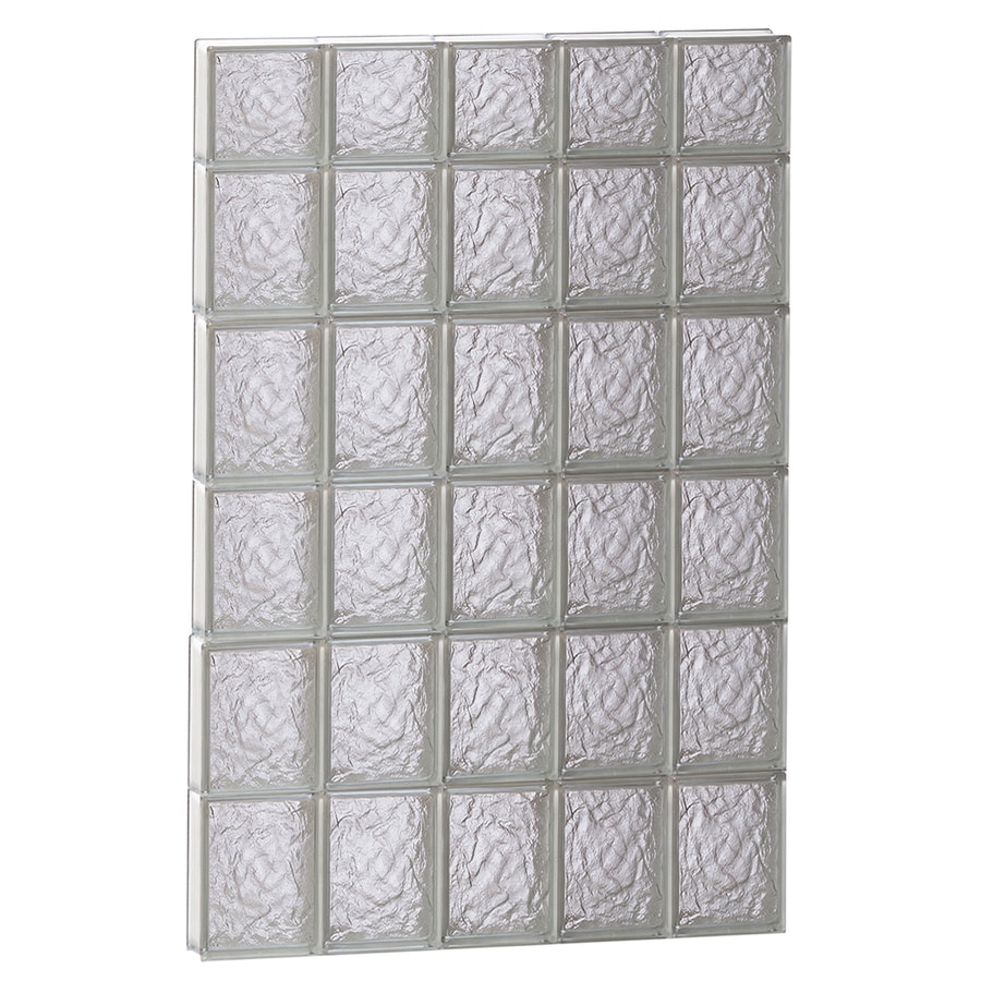 REDI2SET Ice Glass Pattern Frameless Replacement Block Window (Rough Opening: 30-in x 46-in; Actual: 28.75-in x 44.5-in)