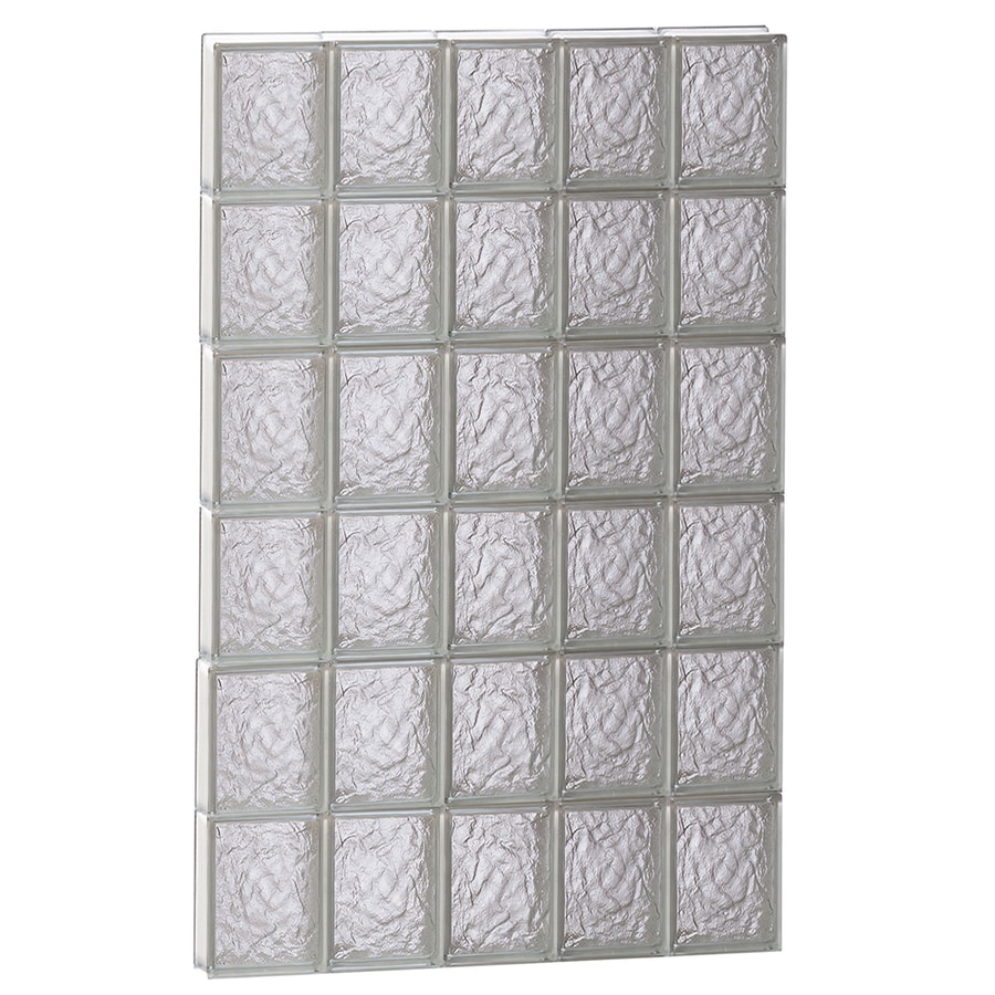 REDI2SET Ice Glass Pattern Frameless Replacement Glass Block Window (Rough Opening: 30-in x 48-in; Actual: 28.75-in x 46.5-in)