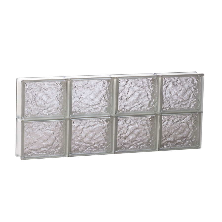 REDI2SET Ice Pattern Frameless Replacement Glass Block Window (Rough Opening: 32-in x 12-in; Actual: 31-in x 11.5-in)