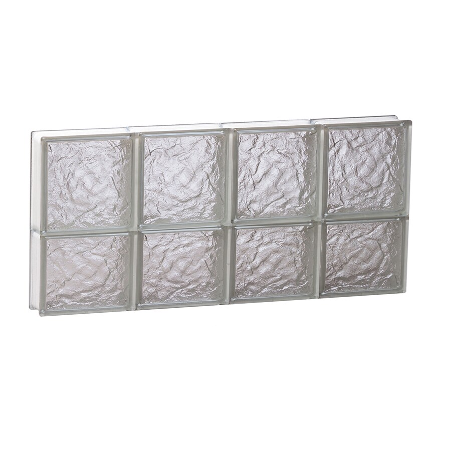REDI2SET Ice Pattern Frameless Replacement Glass Block Window (Rough Opening: 32-in x 14-in; Actual: 31-in x 13.5-in)