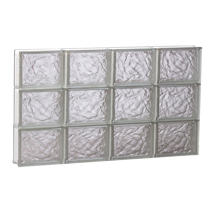REDI2SET Ice Glass Pattern Frameless Replacement Glass Block Window (Rough Opening: 32-in x 18-in; Actual: 31-in x 17.2500-in)