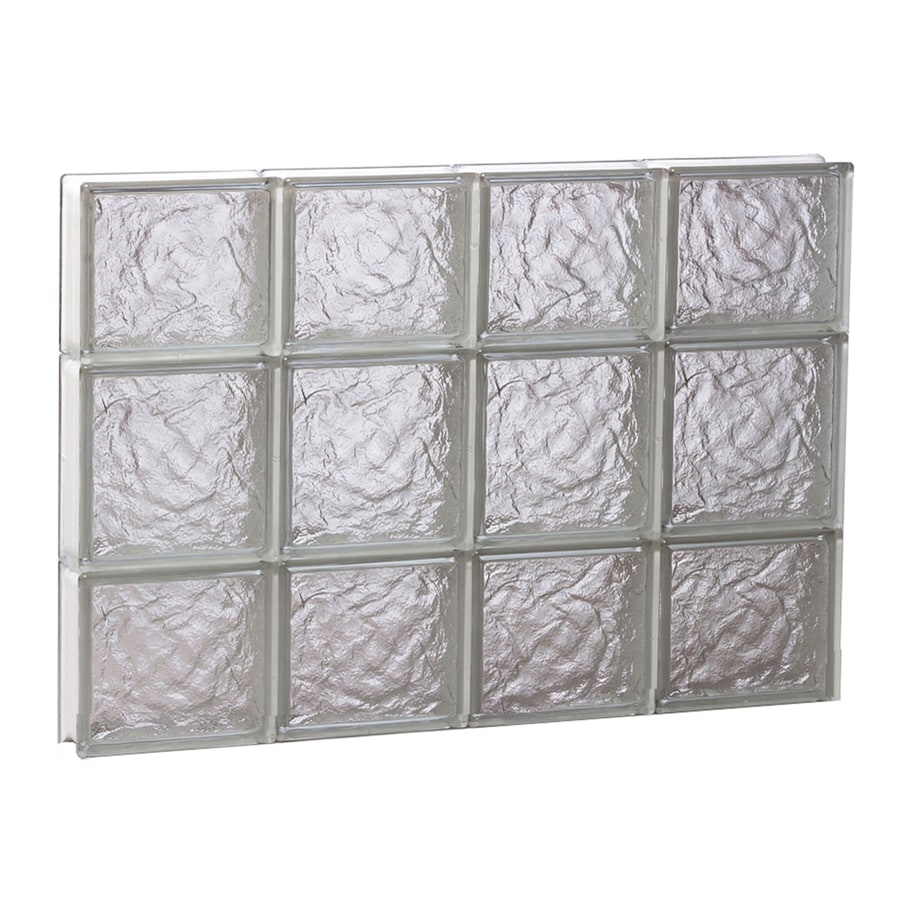 REDI2SET Ice Pattern Frameless Replacement Glass Block Window (Rough Opening: 32-in x 20-in; Actual: 31-in x 19.25-in)