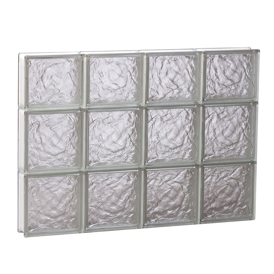 REDI2SET Ice Glass Pattern Frameless Replacement Glass Block Window (Rough Opening: 32-in x 22-in; Actual: 31-in x 21.2500-in)