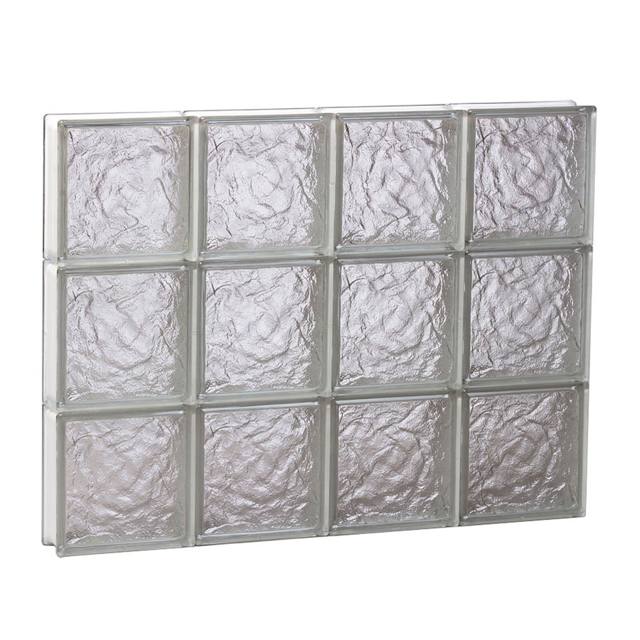 REDI2SET Ice Glass Pattern Frameless Replacement Glass Block Window (Rough Opening: 32-in x 24-in; Actual: 31-in x 23.25-in)