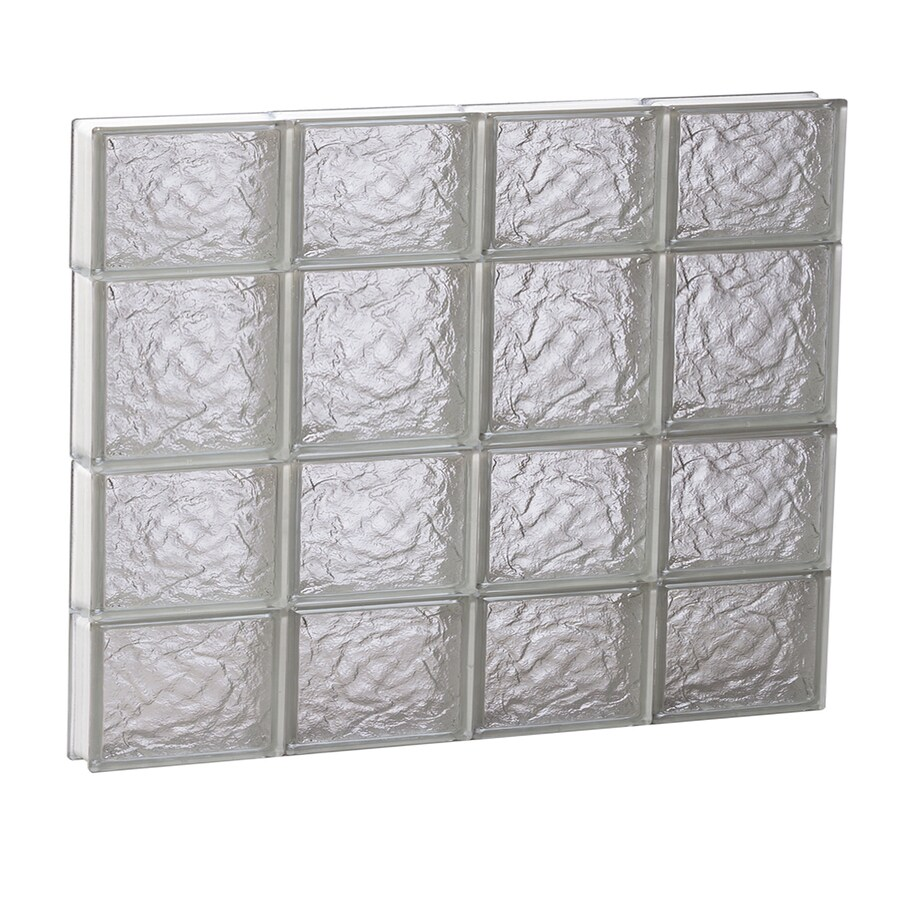 REDI2SET Ice Glass Pattern Frameless Replacement Block Window (Rough Opening: 32-in x 26-in; Actual: 31-in x 25-in)