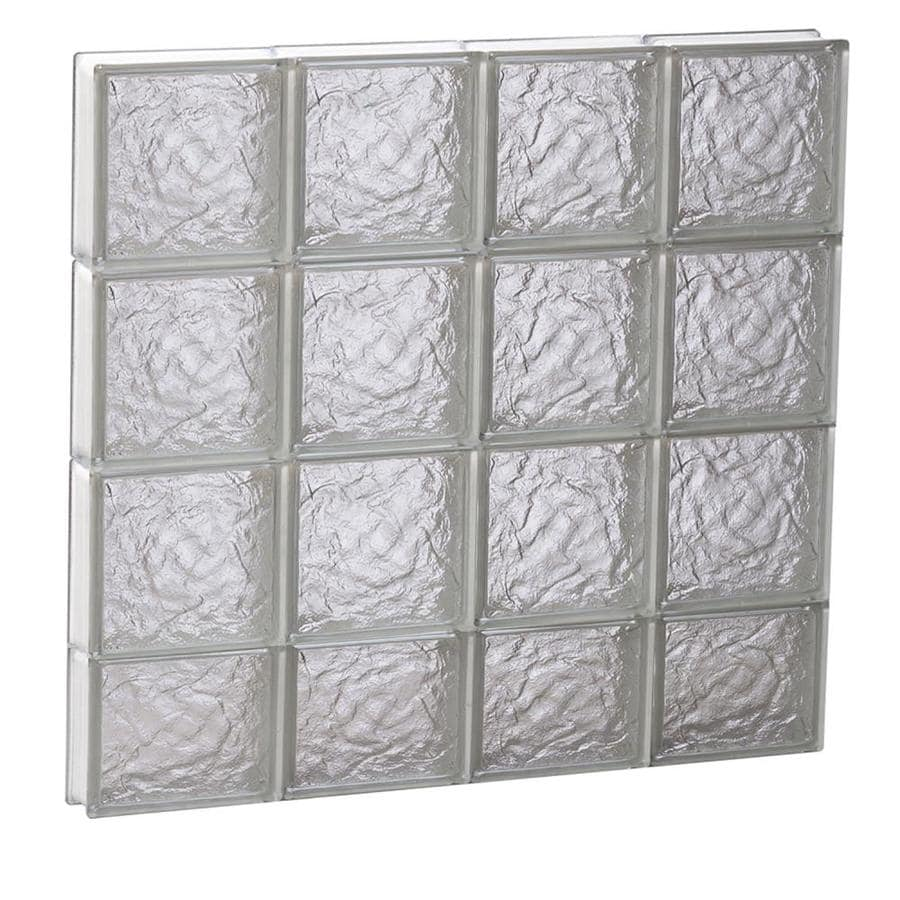REDI2SET Ice Glass Pattern Frameless Replacement Block Window (Rough Opening: 32-in x 30-in; Actual: 31-in x 29-in)