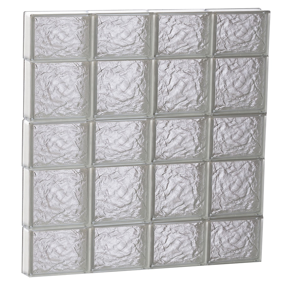 REDI2SET Ice Glass Pattern Frameless Replacement Block Window (Rough Opening: 32-in x 34-in; Actual: 31-in x 32.75-in)