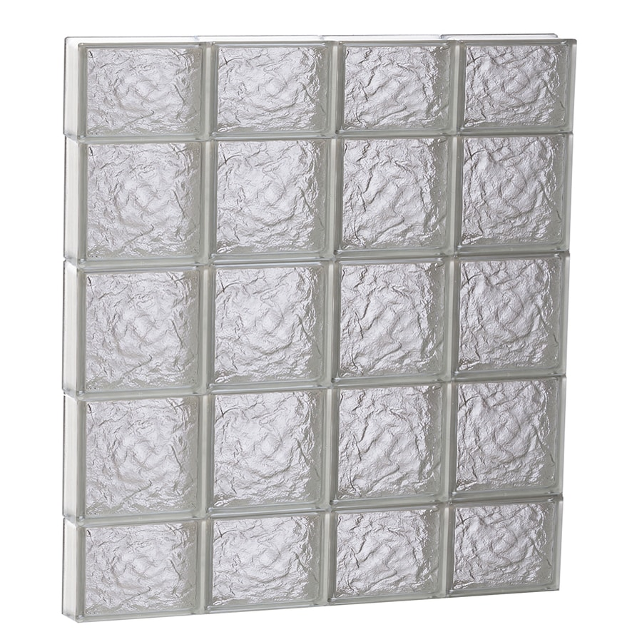 REDI2SET Ice Glass Pattern Frameless Replacement Block Window (Rough Opening: 32-in x 36-in; Actual: 31-in x 34.75-in)