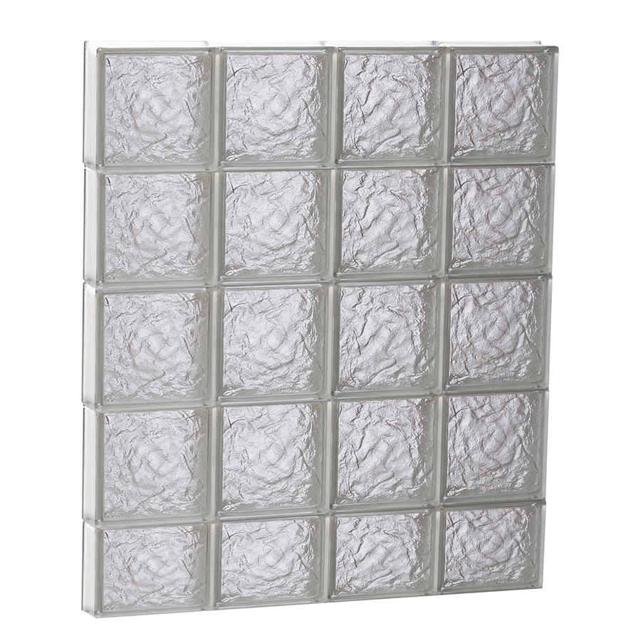 REDI2SET Ice Glass Pattern Frameless Replacement Glass Block Window (Rough Opening: 32-in x 38-in; Actual: 31-in x 36.7500-in)