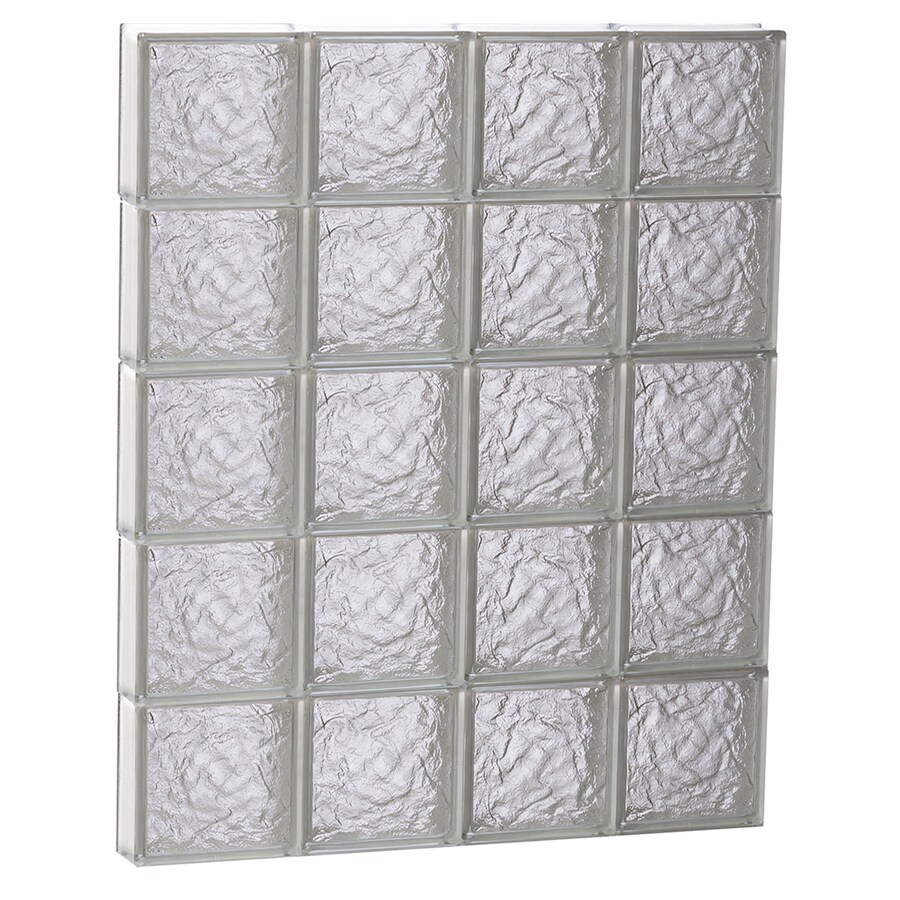 REDI2SET Ice Glass Pattern Frameless Replacement Block Window (Rough Opening: 32-in x 40-in; Actual: 31-in x 38.75-in)