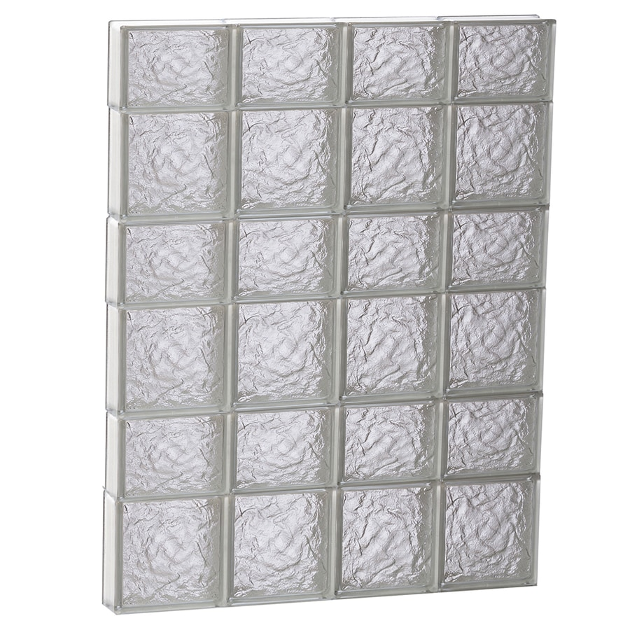 REDI2SET Ice Pattern Frameless Replacement Glass Block Window (Rough Opening: 32-in x 42-in; Actual: 31-in x 40.5-in)