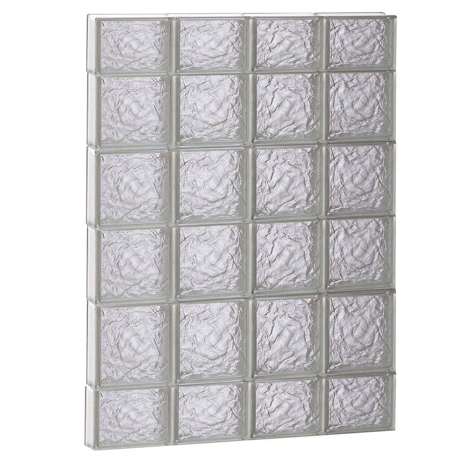 REDI2SET Ice Glass Pattern Frameless Replacement Block Window (Rough Opening: 32-in x 44-in; Actual: 31-in x 42.5-in)