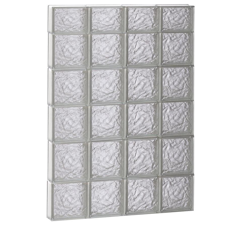 REDI2SET Ice Glass Pattern Frameless Replacement Block Window (Rough Opening: 32-in x 46-in; Actual: 31-in x 44.5-in)