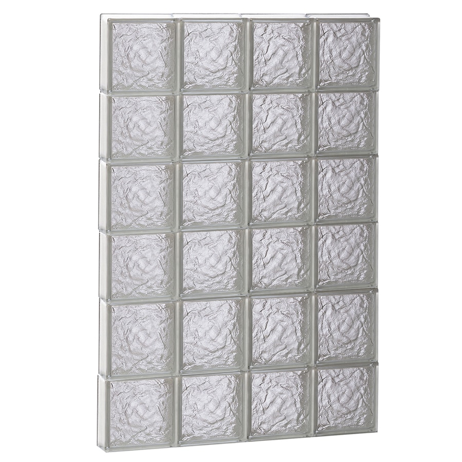 REDI2SET Ice Glass Pattern Frameless Replacement Block Window (Rough Opening: 32-in x 48-in; Actual: 31-in x 46.5-in)