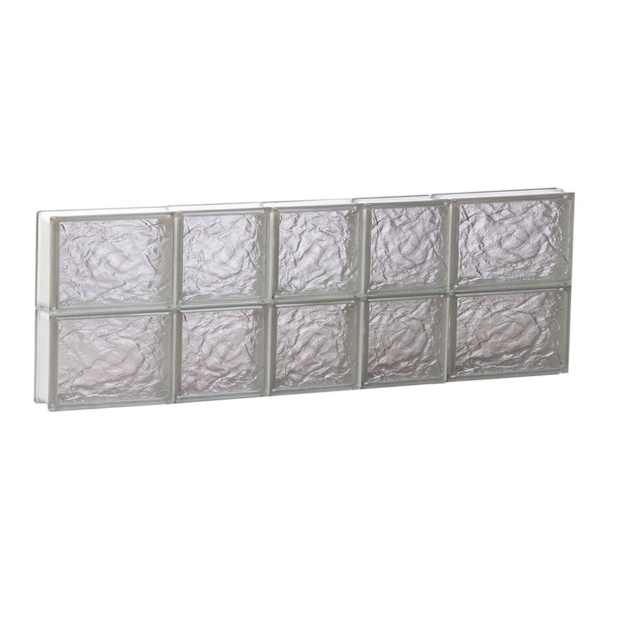 REDI2SET Ice Glass Pattern Frameless Replacement Block Window (Rough Opening: 34-in x 12-in; Actual: 32.75-in x 11.5-in)