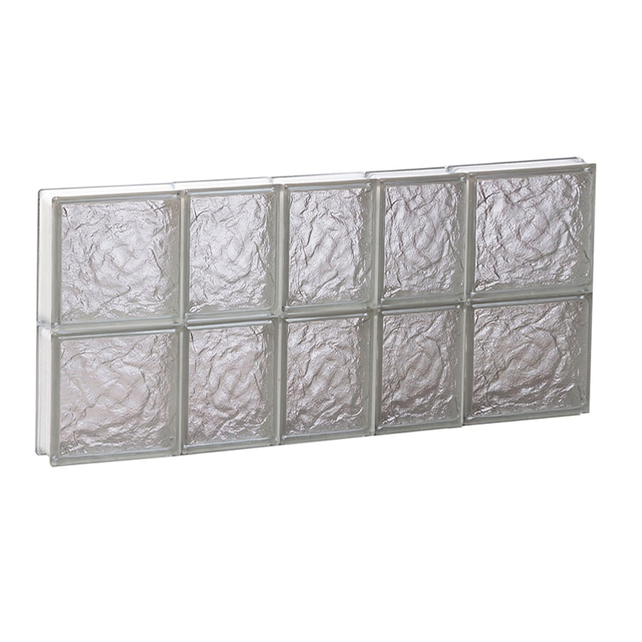 REDI2SET Ice Glass Pattern Frameless Replacement Block Window (Rough Opening: 34-in x 16-in; Actual: 32.75-in x 15.5-in)