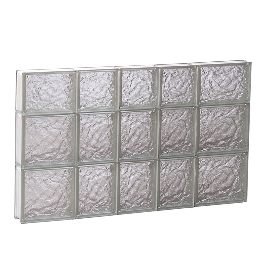 REDI2SET Ice Glass Pattern Frameless Replacement Block Window (Rough Opening: 34-in x 22-in; Actual: 32.75-in x 21.25-in)