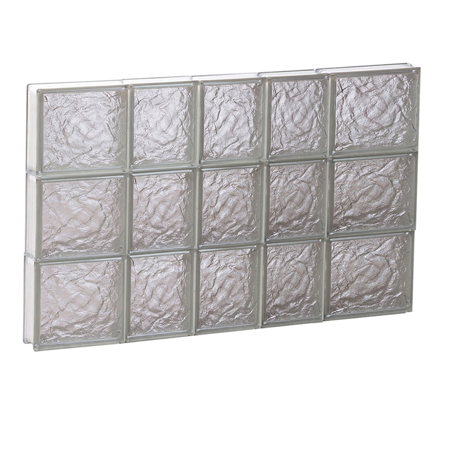 REDI2SET Ice Pattern Frameless Replacement Glass Block Window (Rough Opening: 34-in x 24-in; Actual: 32.75-in x 23.25-in)