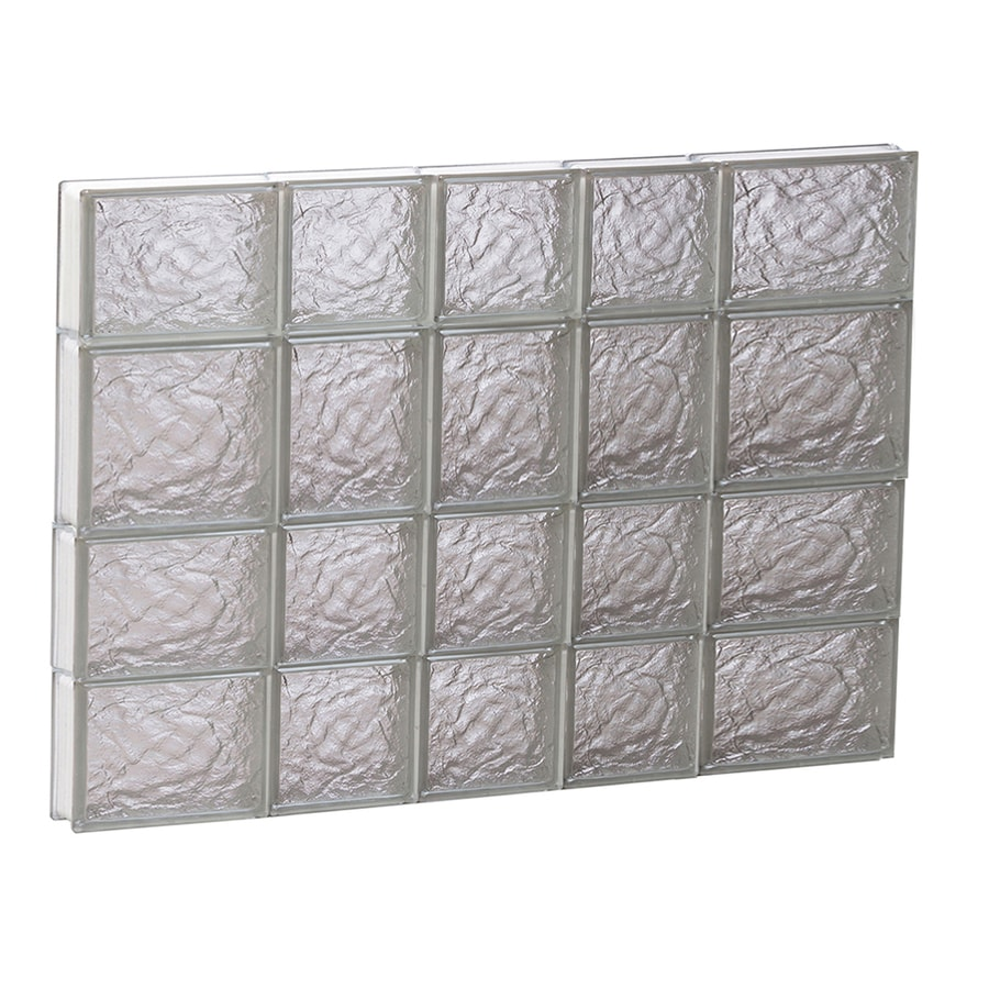 REDI2SET Ice Glass Pattern Frameless Replacement Block Window (Rough Opening: 34-in x 26-in; Actual: 32.75-in x 25-in)