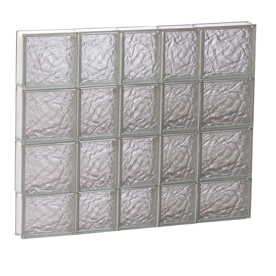 REDI2SET Ice Glass Pattern Frameless Replacement Block Window (Rough Opening: 34-in x 30-in; Actual: 32.75-in x 29-in)