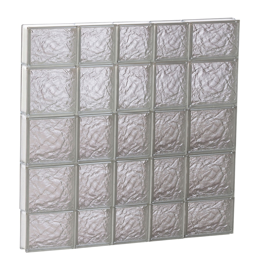 REDI2SET Ice Pattern Frameless Replacement Glass Block Window (Rough Opening: 34-in x 36-in; Actual: 32.75-in x 34.75-in)