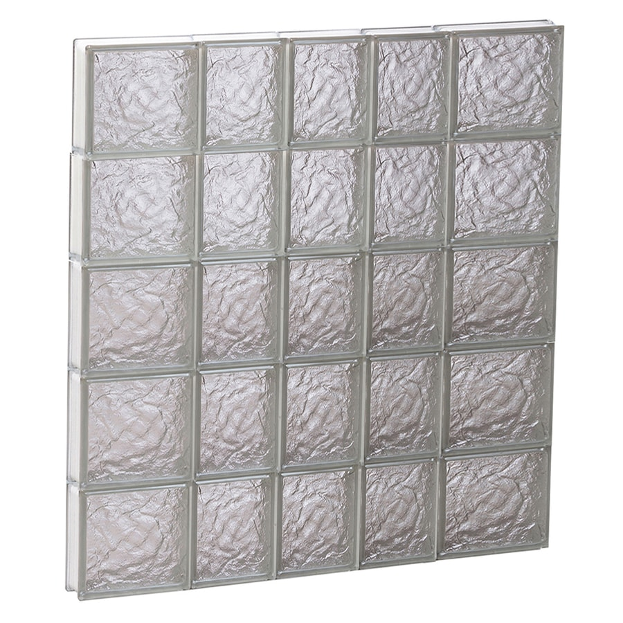 REDI2SET Ice Glass Pattern Frameless Replacement Block Window (Rough Opening: 34-in x 40-in; Actual: 32.75-in x 38.75-in)