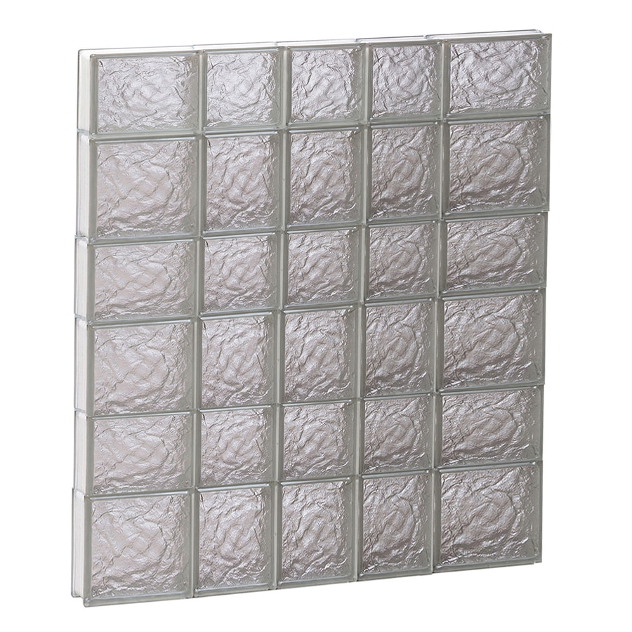REDI2SET Ice Glass Pattern Frameless Replacement Glass Block Window (Rough Opening: 34-in x 42-in; Actual: 32.75-in x 40.5-in)