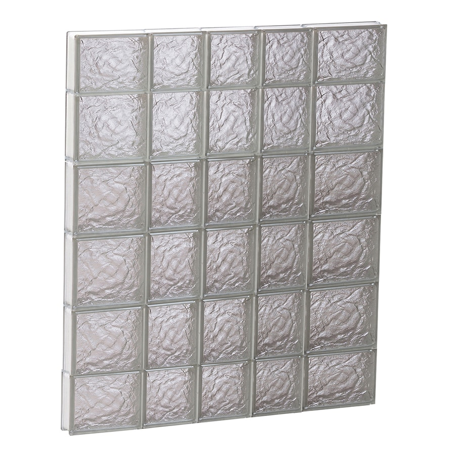 REDI2SET Ice Glass Pattern Frameless Replacement Block Window (Rough Opening: 34-in x 44-in; Actual: 32.75-in x 42.5-in)