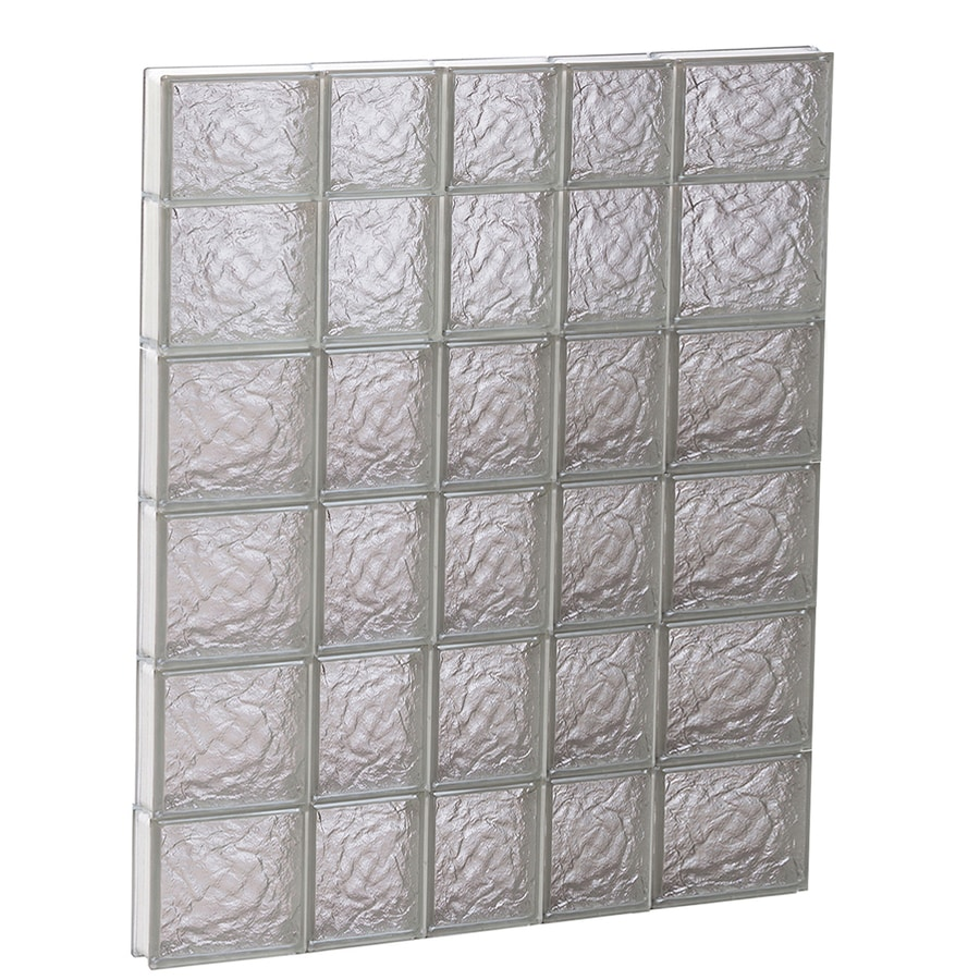 REDI2SET Ice Glass Pattern Frameless Replacement Block Window (Rough Opening: 34-in x 46-in; Actual: 32.75-in x 44.5-in)