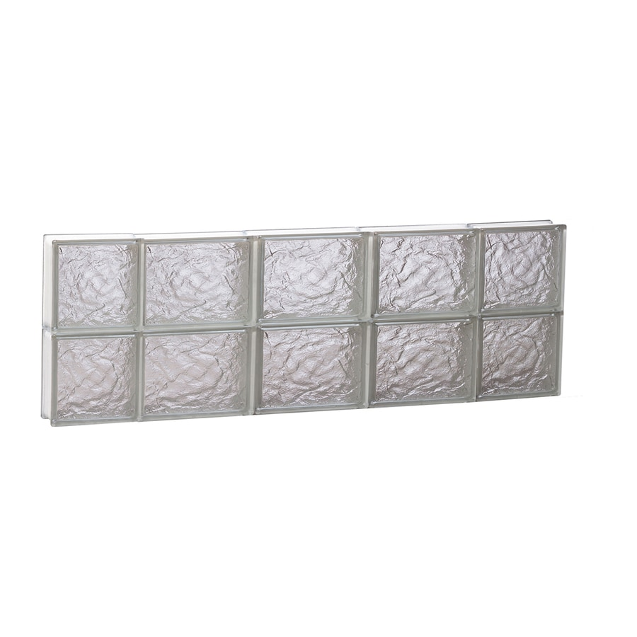 REDI2SET Ice Glass Pattern Frameless Replacement Block Window (Rough Opening: 36-in x 12-in; Actual: 34.75-in x 11.5-in)