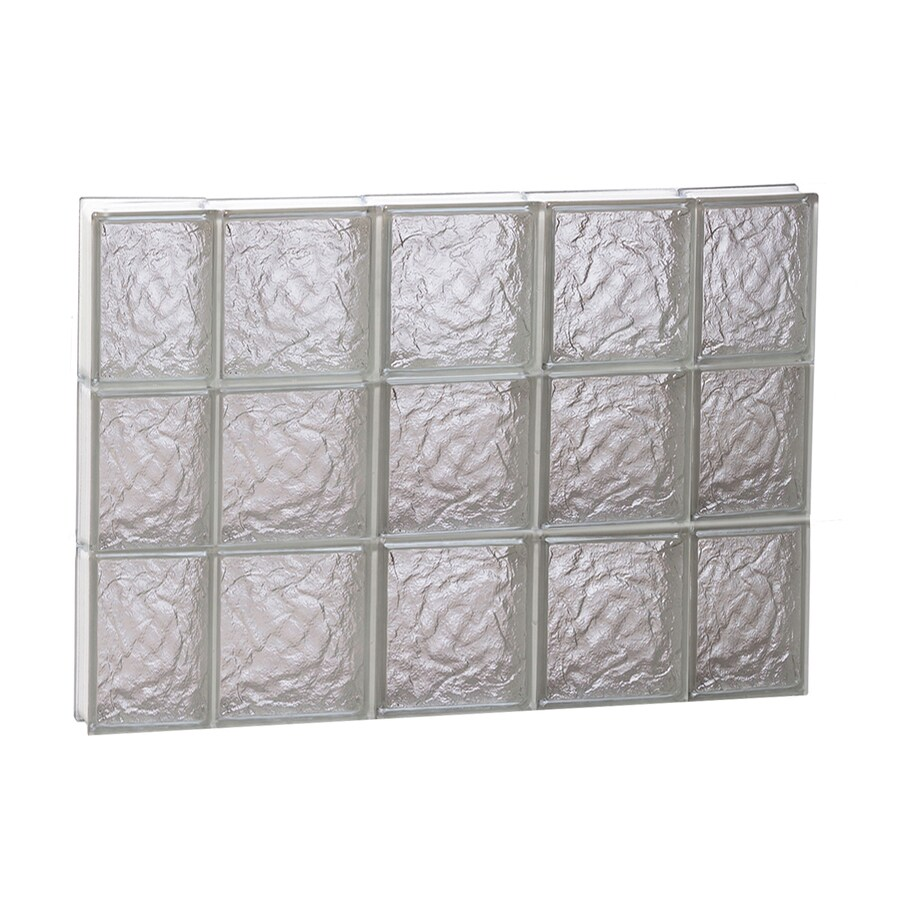REDI2SET Ice Glass Pattern Frameless Replacement Block Window (Rough Opening: 36-in x 24-in; Actual: 34.75-in x 23.25-in)