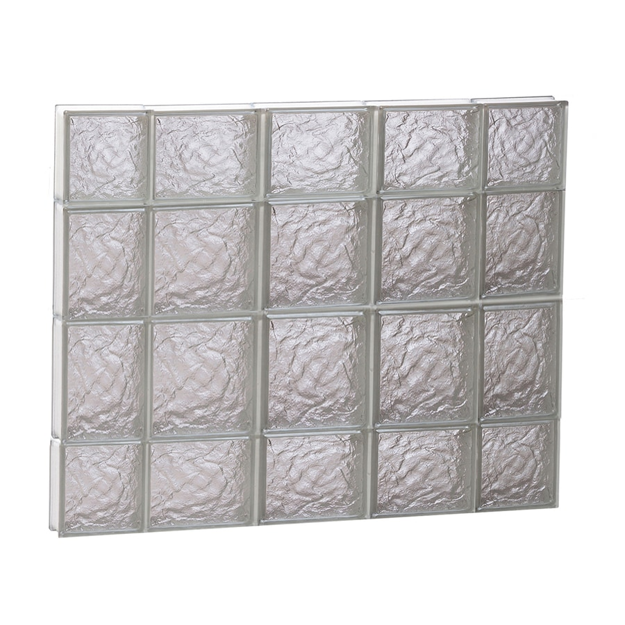 REDI2SET Ice Glass Pattern Frameless Replacement Block Window (Rough Opening: 36-in x 28-in; Actual: 34.75-in x 27-in)