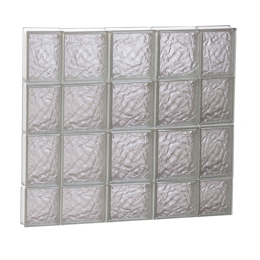 REDI2SET Ice Glass Pattern Frameless Replacement Block Window (Rough Opening: 36-in x 30-in; Actual: 34.75-in x 29-in)