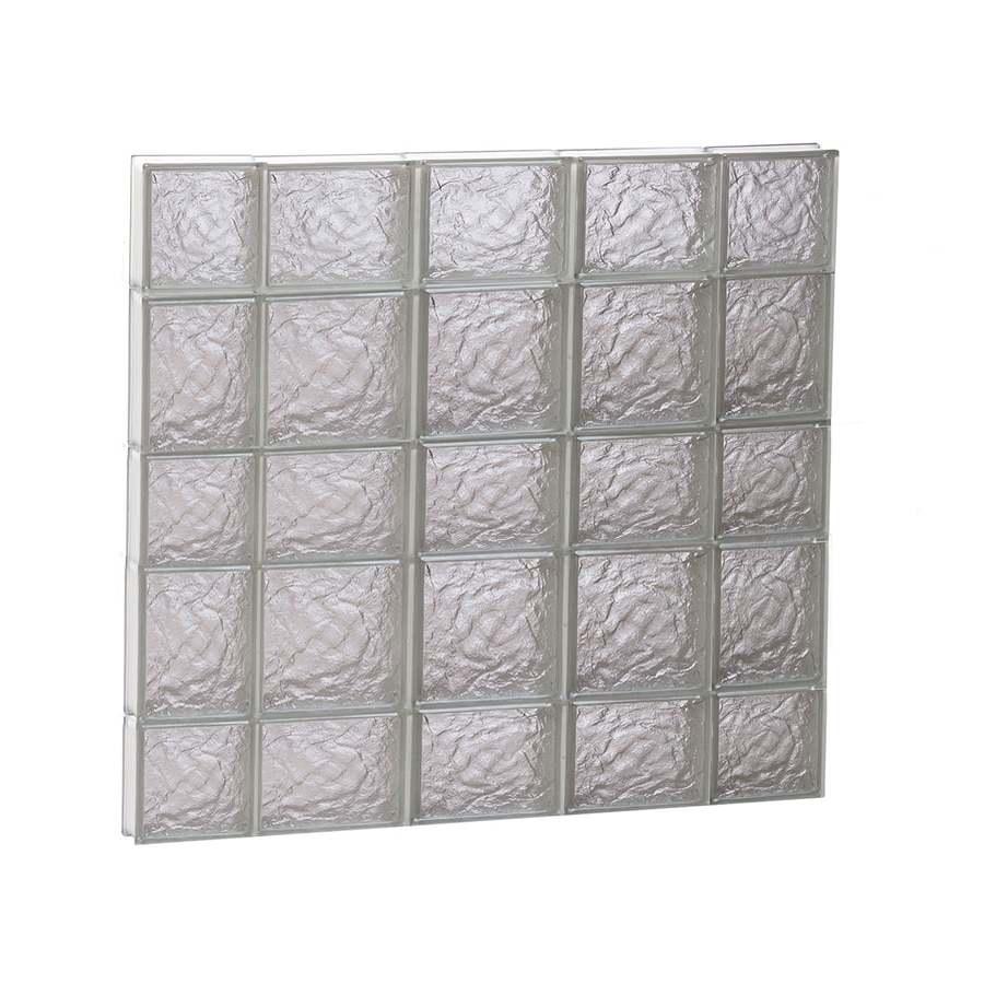REDI2SET Ice Glass Pattern Frameless Replacement Block Window (Rough Opening: 36-in x 34-in; Actual: 34.75-in x 32.75-in)