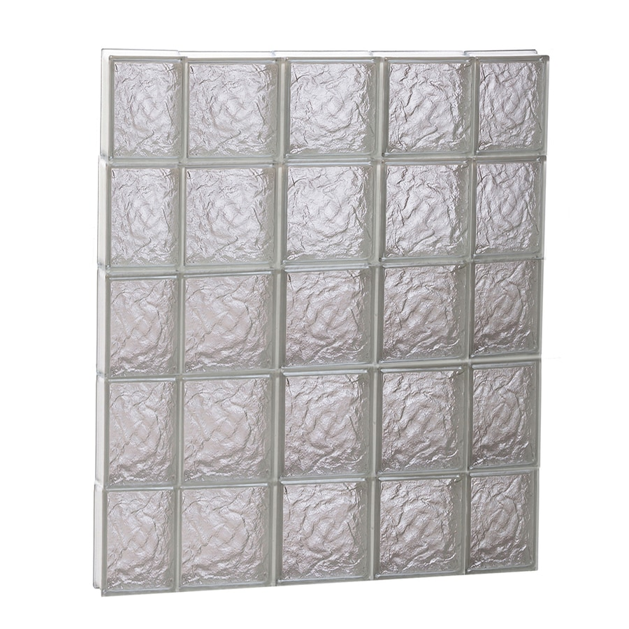 REDI2SET Ice Glass Pattern Frameless Replacement Block Window (Rough Opening: 36-in x 40-in; Actual: 34.75-in x 38.75-in)