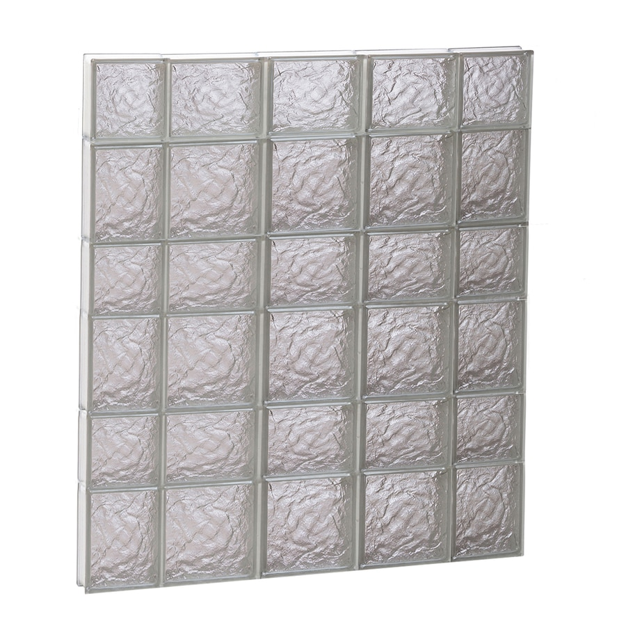 REDI2SET Ice Glass Pattern Frameless Replacement Glass Block Window (Rough Opening: 36-in x 42-in; Actual: 34.7500-in x 40.5000-in)