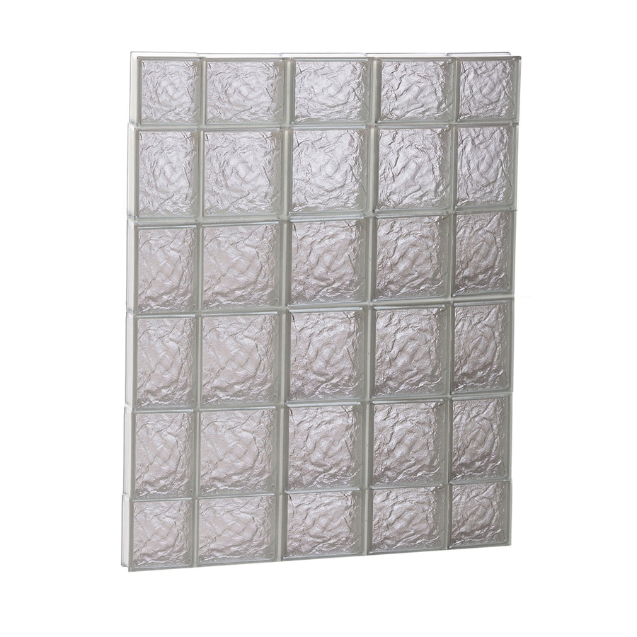 REDI2SET Ice Glass Pattern Frameless Replacement Glass Block Window (Rough Opening: 36-in x 44-in; Actual: 34.7500-in x 42.5000-in)
