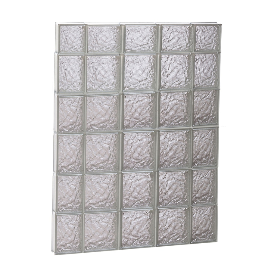 REDI2SET Ice Glass Pattern Frameless Replacement Block Window (Rough Opening: 36-in x 46-in; Actual: 34.75-in x 44.5-in)