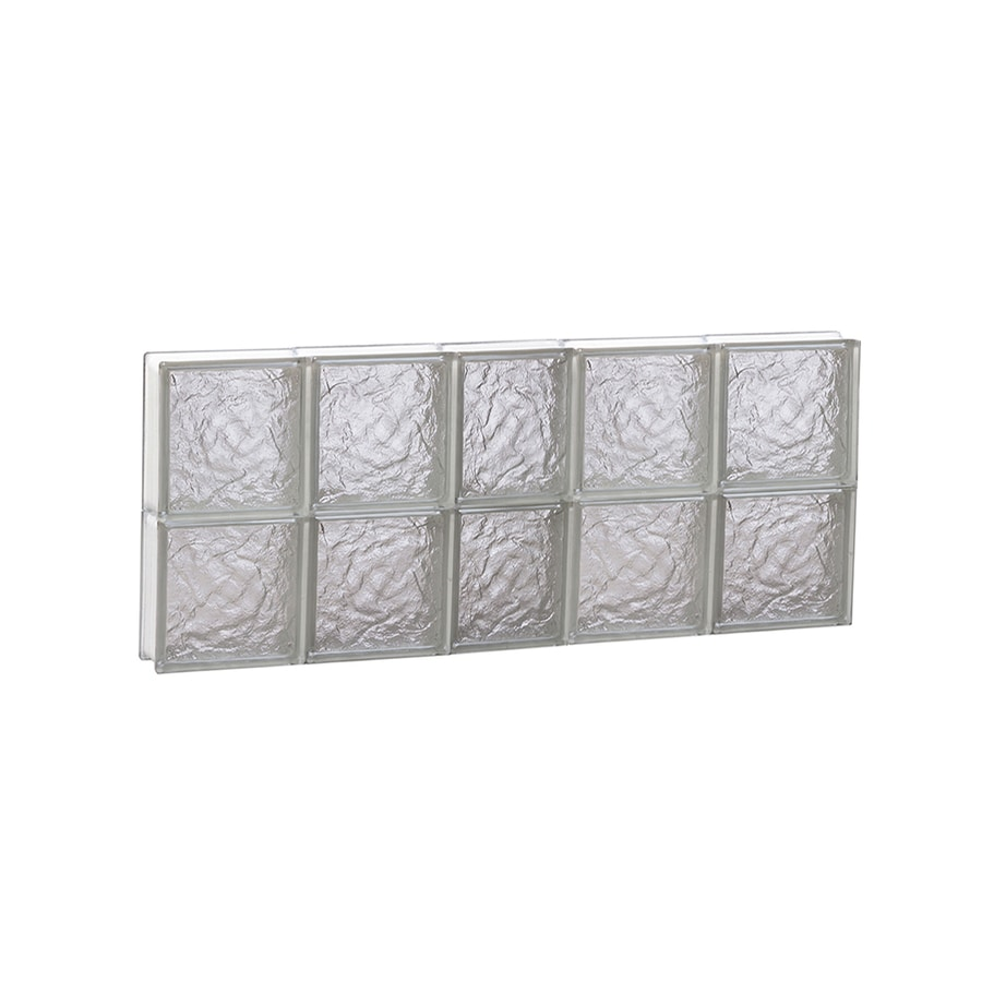 REDI2SET Ice Glass Pattern Frameless Replacement Block Window (Rough Opening: 38-in x 16-in; Actual: 36.75-in x 15.5-in)