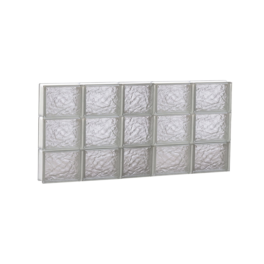 REDI2SET Ice Glass Pattern Frameless Replacement Glass Block Window (Rough Opening: 38-in x 18-in; Actual: 36.75-in x 17.25-in)
